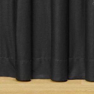 "Darby Home Co Cotton 18"" Bed Skirt Black TWIN"